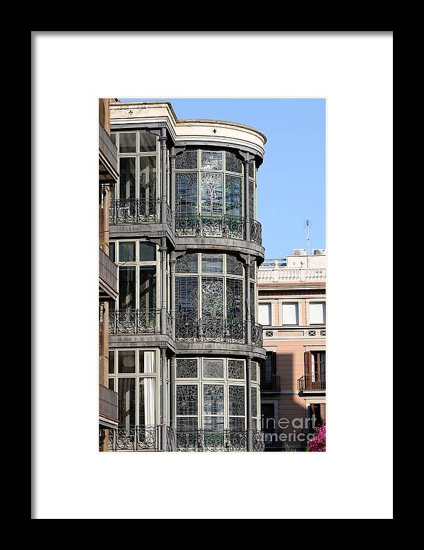 Barcelona Framed Print featuring the photograph In Barcelona by Sophie Vigneault
