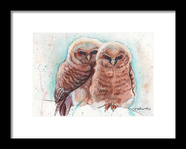 Wildlife Framed Print featuring the painting In Cahoots by Tahirih Goffic