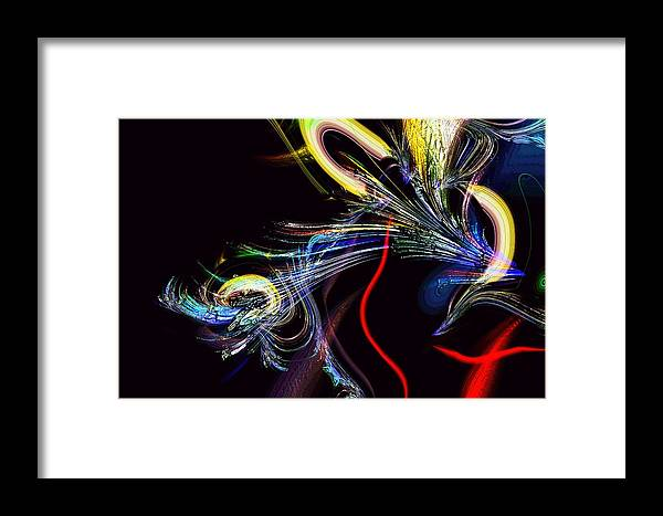 Abstract Framed Print featuring the photograph In Celebration Of Things Cerebral by Richard Thomas