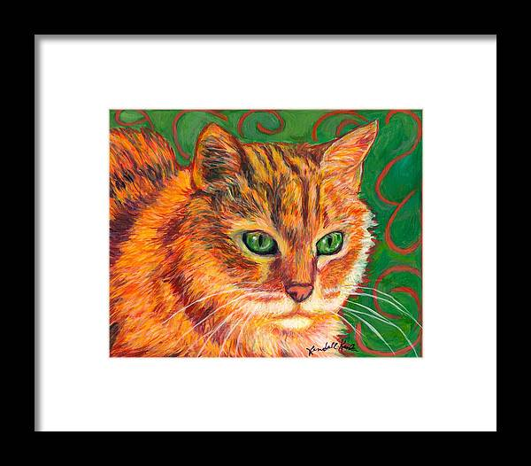 Cats Framed Print featuring the painting In Charge by Kendall Kessler