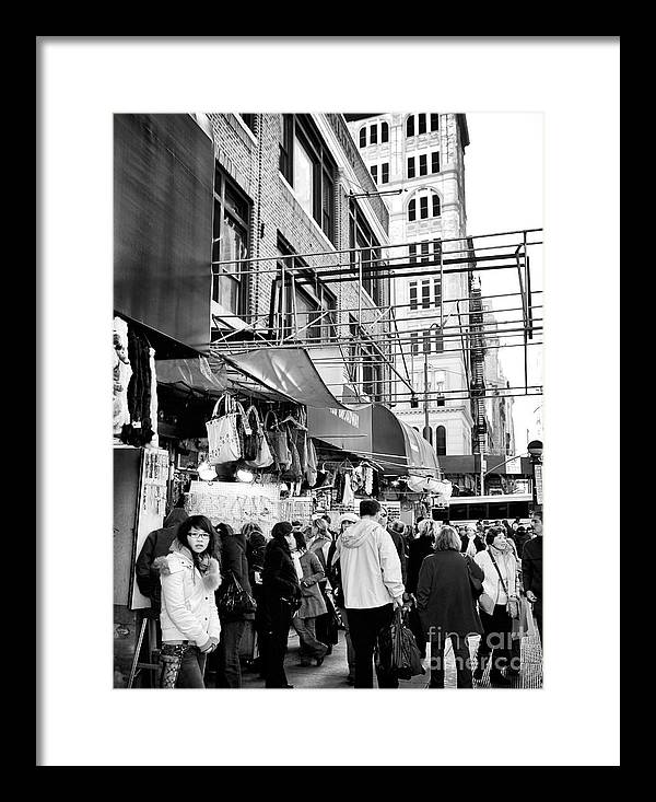 In Chinatown Framed Print featuring the photograph In Chinatown by John Rizzuto