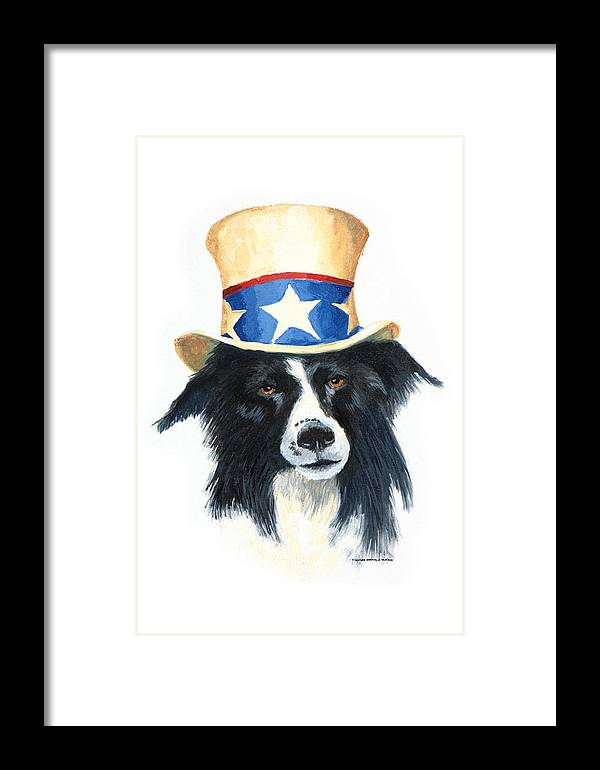 Dog Framed Print featuring the painting In Dog We Trust by Jerry McElroy