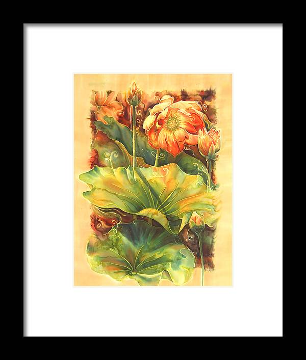 Flower Framed Print featuring the painting In Full Bloom by Deborah Younglao