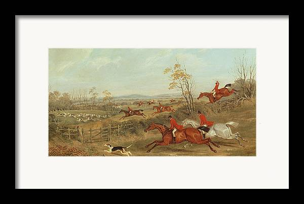 Hunt Framed Print featuring the painting In Full Cry by James Russell Ryott