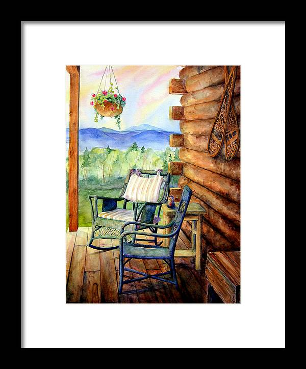 Rocking Chair Framed Print featuring the painting In Good Company by Mary Giacomini