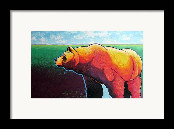 Grizzly Bear Framed Print featuring the painting In His Prime by Joe Triano