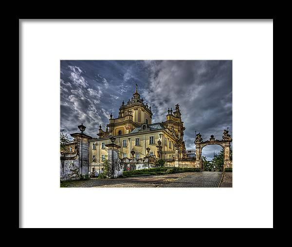 Church Framed Print featuring the photograph In Joy And Sorrow by Evelina Kremsdorf