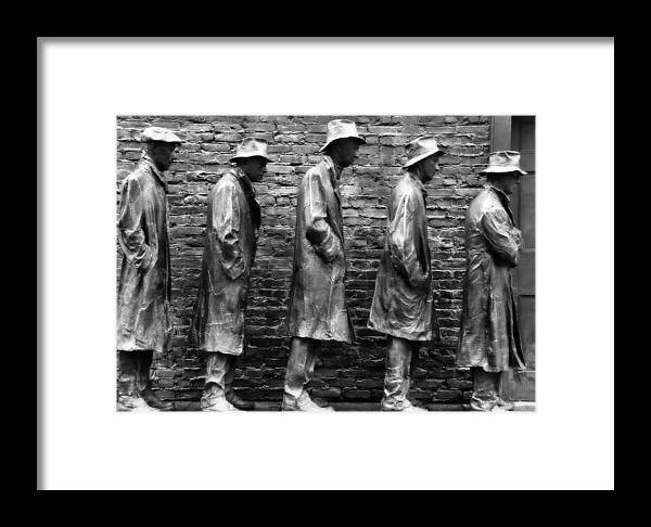 Breadline Framed Print featuring the photograph In Line For Assistance by Gregory Strong