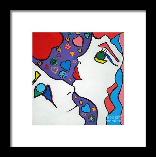 Pop-art Framed Print featuring the painting In Love by Silvana Abel