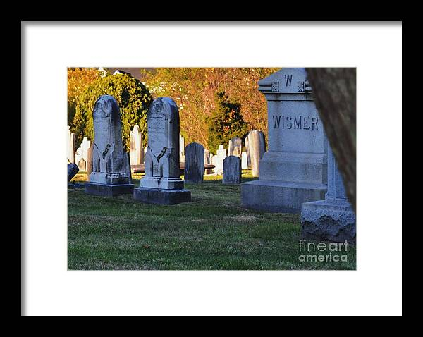 Cemetery Framed Print featuring the photograph In Memory by Joseph Perno