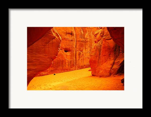 Orange Framed Print featuring the photograph In Orange Chasms by Jeff Swan