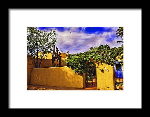 Santa Fe Framed Print featuring the photograph In Santa Fe - New Mexico by Madeline Ellis