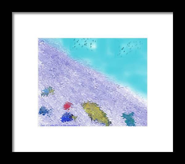 Creation Framed Print featuring the digital art In the beginning 3 by Dr Loifer Vladimir