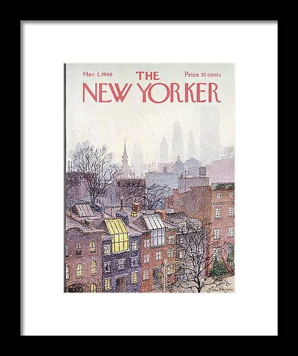 Albert Hubbell Ahu Framed Print featuring the painting New Yorker March 2, 1968 by Albert Hubbell