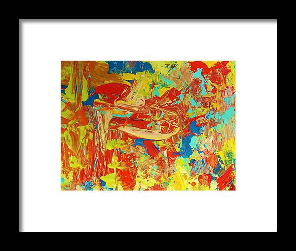 Original Framed Print featuring the painting In The Garden Of Eden by Artist Ai