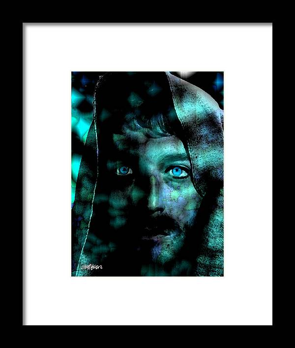 In The Garden Framed Print featuring the digital art In The Garden by Seth Weaver