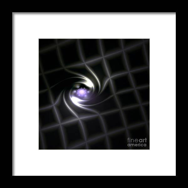 3d Framed Print featuring the digital art In The Healers Matrix by Rebecca Phillips