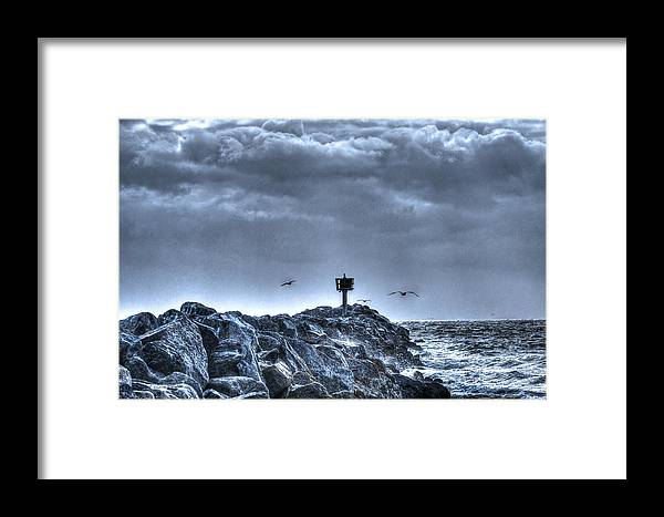 Beach Framed Print featuring the photograph In The Jetty Moss Landing Monterey County by SC Heffner