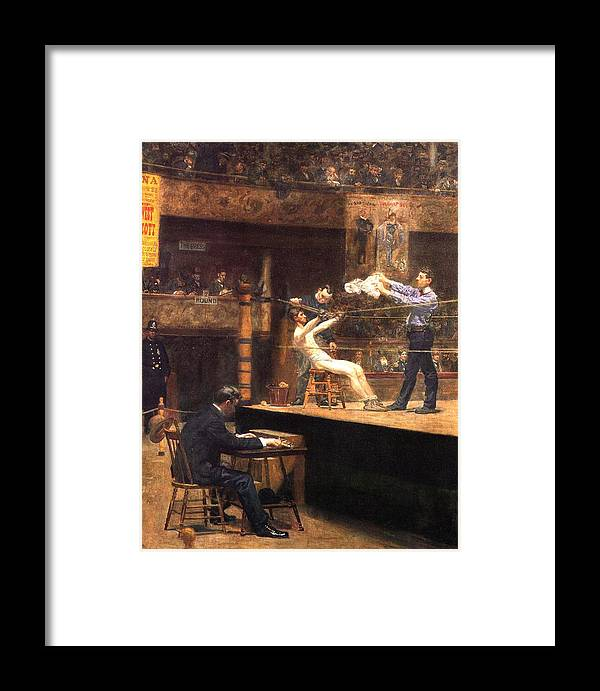 Eakins-in The Mid Time Framed Print featuring the painting In The Mid Time by Eakins