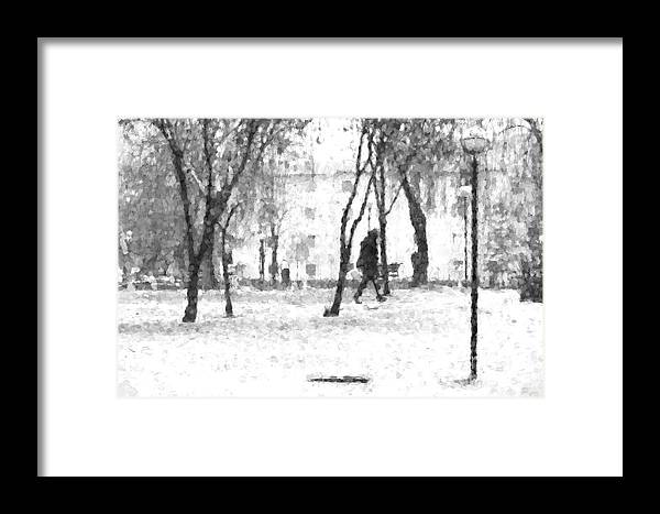 Snow Framed Print featuring the photograph In The Snow by Roberto Giobbi