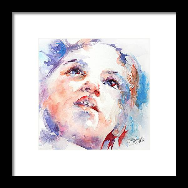 Art Framed Print featuring the painting In Wonder by Stephie Butler