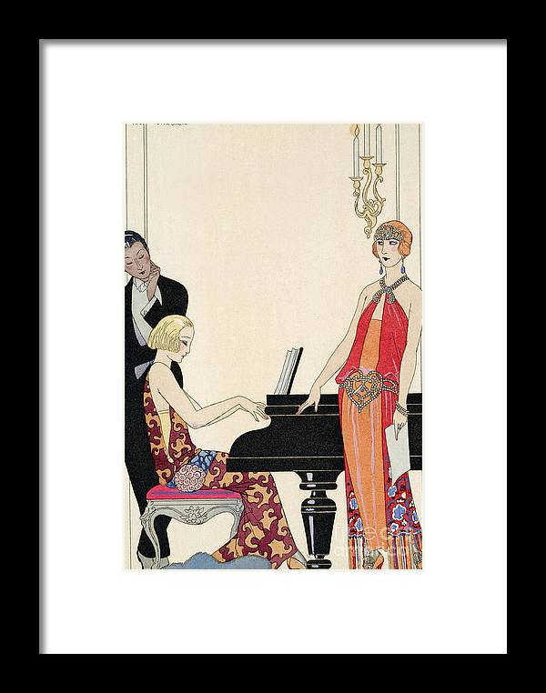 Piano Framed Print featuring the painting Incantation by Georges Barbier