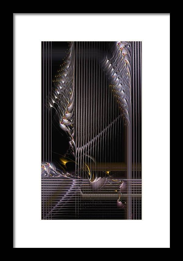 Abstract Framed Print featuring the digital art Incrementation by Casey Kotas