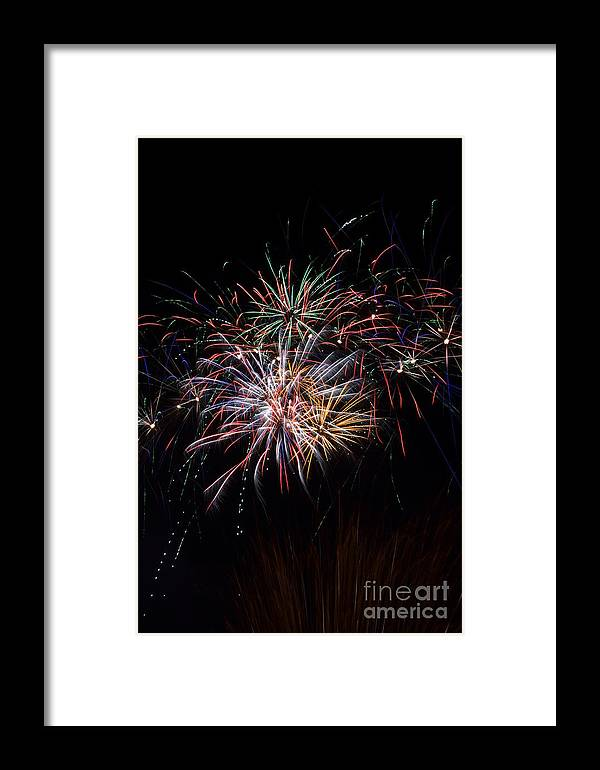 Fireworks Framed Print featuring the photograph Independence Day by Matt Davis