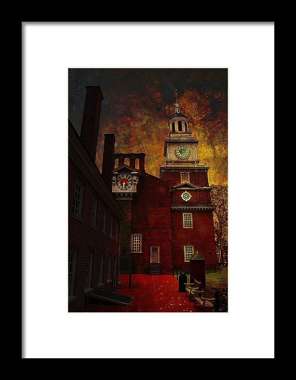 Philadelphia Framed Print featuring the photograph Independence Hall Philadelphia Let Freedom Ring by Jeff Burgess