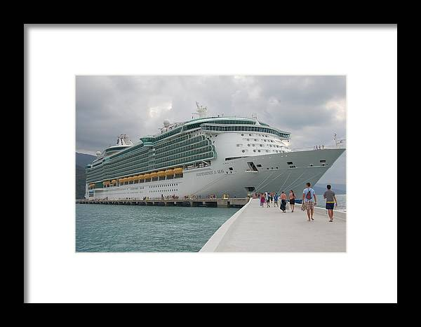 Royal Caribbean Framed Print featuring the photograph Independence Of The Seas by Todd Elliott