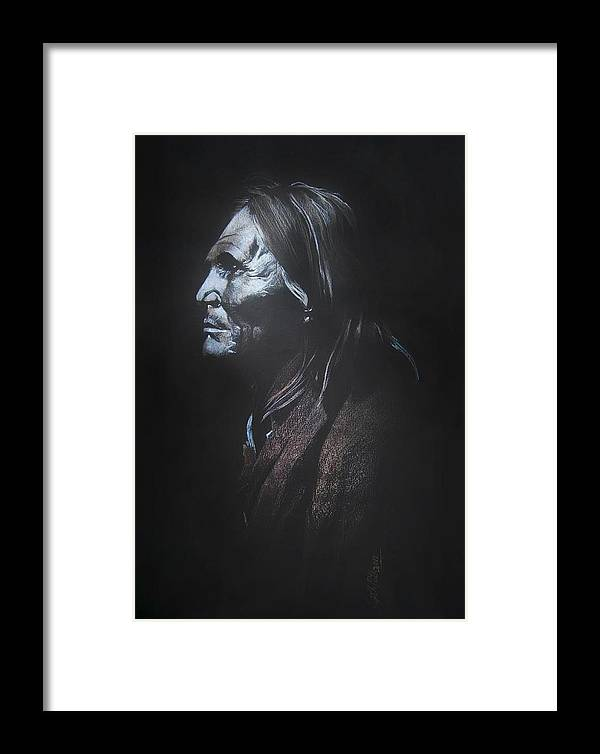 Indian Drawings Framed Print featuring the drawing Indian Apache II by Sujith Puthran