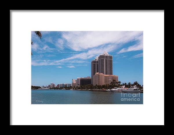 Miami Beach Framed Print featuring the photograph Indian Creek And Blue Tower Condos by Rene Triay Photography