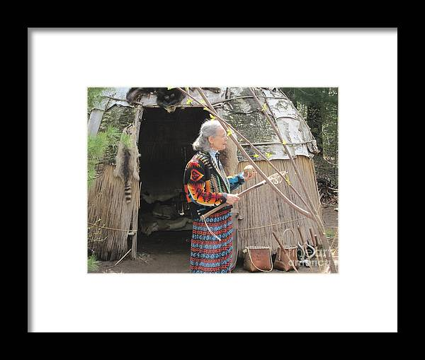 Ojibwe Framed Print featuring the photograph Indian Lacrosse by Terry Hunt