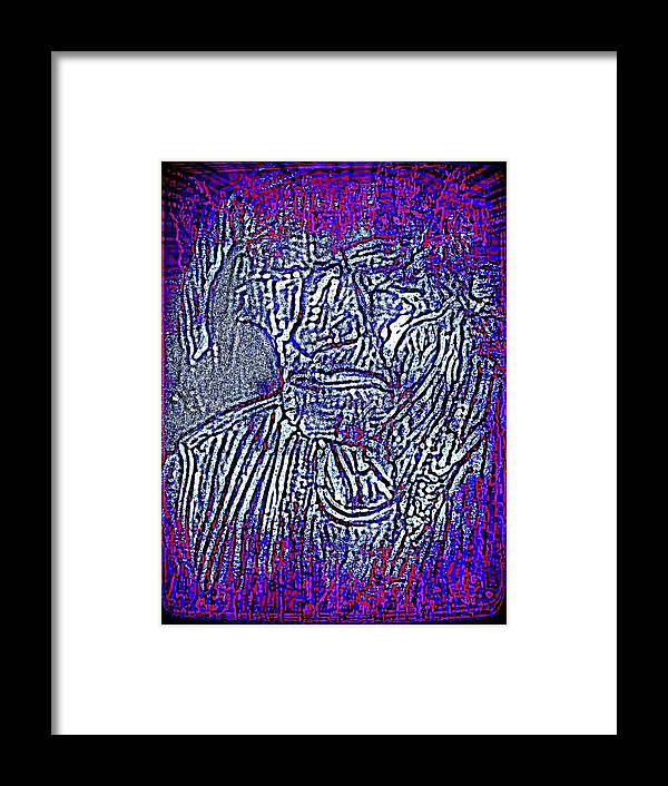 Abstract Framed Print featuring the photograph Indian Man by HollyWood Creation By linda zanini
