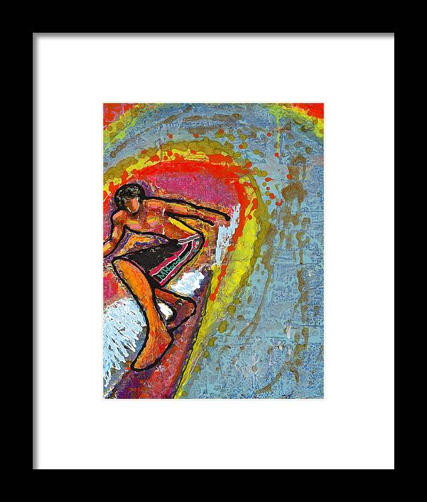 Mike Harder Framed Print featuring the painting Indian Summer by Mike Harder
