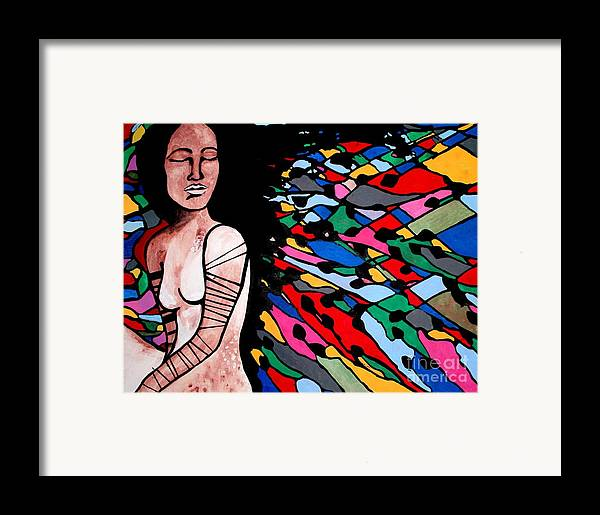 Indian Framed Print featuring the painting Indian Wave by Amy Sorrell