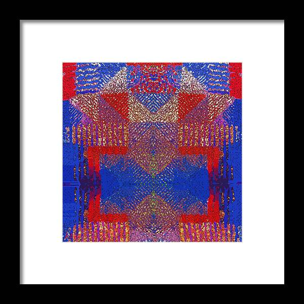 Indian Framed Print featuring the digital art Indian Weave Abstract by Alec Drake