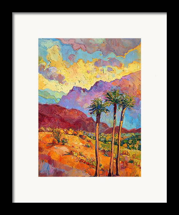 Indian Wells Framed Print By Erin Hanson