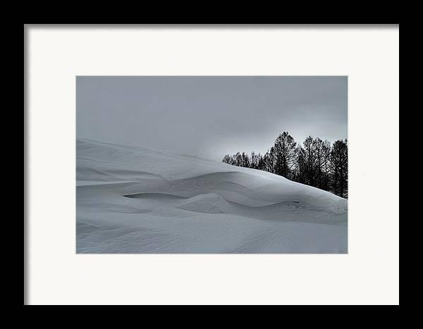 Snow Drifts Framed Print featuring the photograph Indiana Drifter by Julie Dant