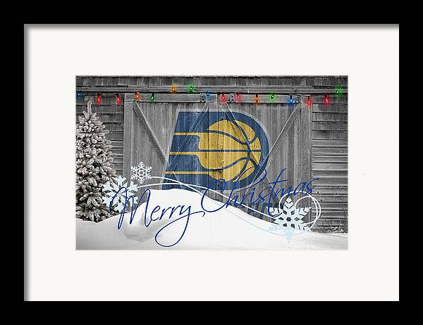 Pacers Framed Print featuring the photograph Indiana Pacers by Joe Hamilton