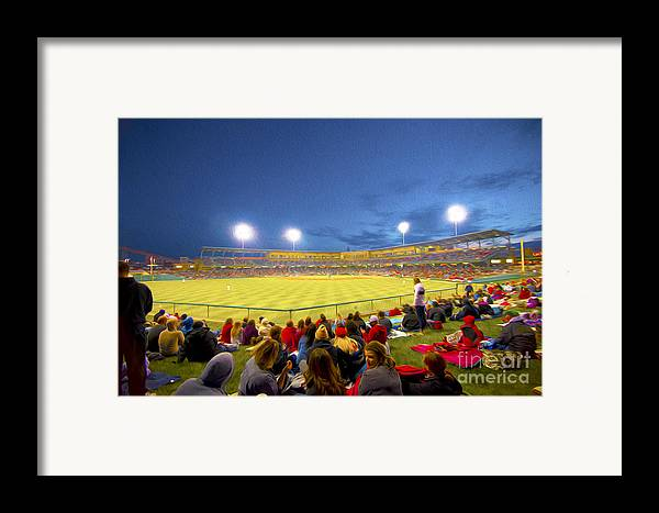 Victory Field Framed Print featuring the photograph Indianapolis Indians by David Haskett