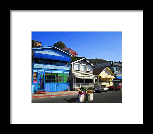 House Framed Print featuring the painting Individualism by Snake Jagger