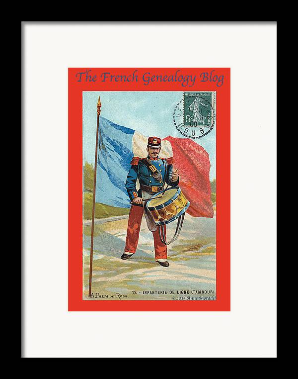 France Framed Print featuring the photograph Infantry Of The Line Drummer With Fgb Border by A Morddel