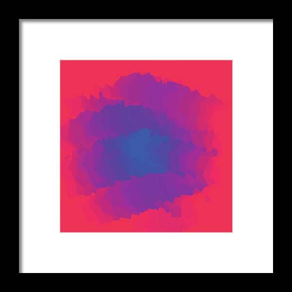 Presentation Framed Print featuring the digital art Inferno Background by Calvindexter