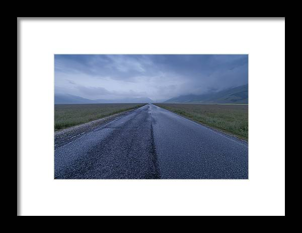Grass Framed Print featuring the photograph Infinity by Adriano Ficarelli