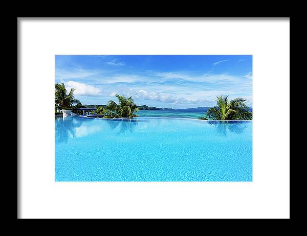 Scenics Framed Print featuring the photograph Infinity Swimming Pool by 35007