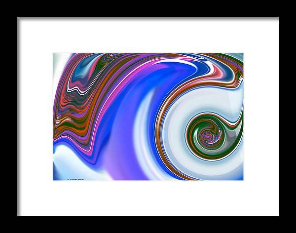 Informale Framed Print featuring the digital art Informale by Giovanni Marino