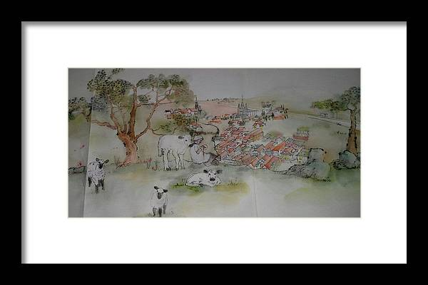 The Netherlands. Landscape. Figures. Architecture. Agriculture. Fauna And Flora Framed Print featuring the painting Inges Netherland Album by Debbi Saccomanno Chan