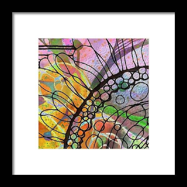 Framed Print featuring the photograph Ink On Watercolor by Robin Mead