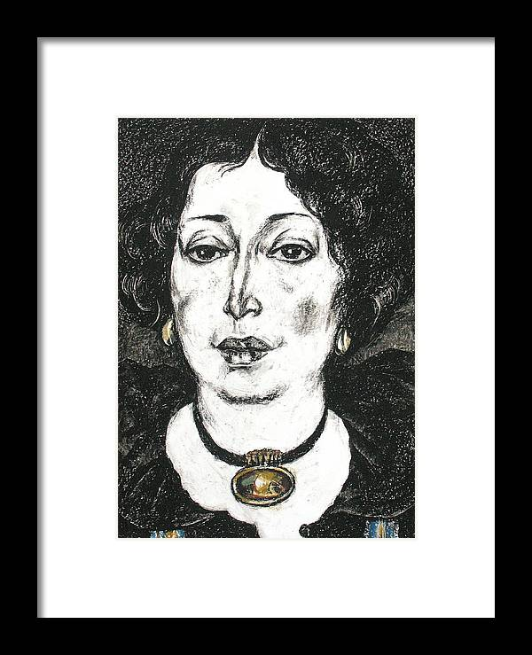 Portrait Framed Print featuring the painting Inna by Leonid Petrushin